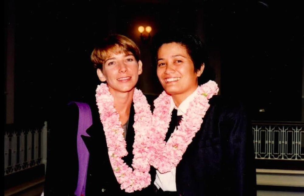 Ninia Baehr and Genora Dancel (1993) (Photo courtesy of Genora Dancel)