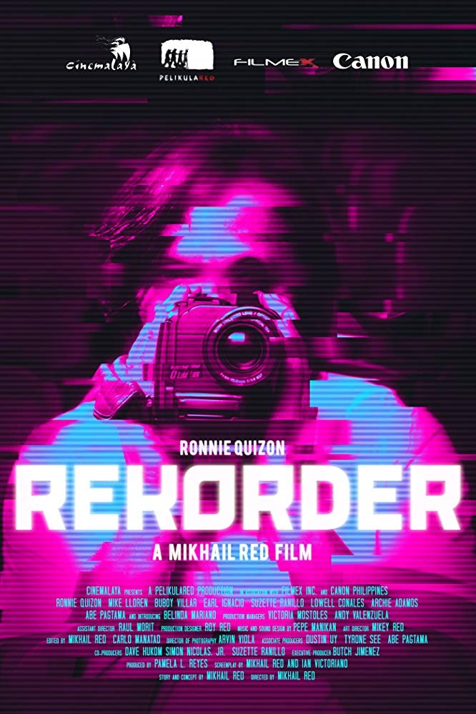 The poster for  Rekorder,  Red's first full-length feature