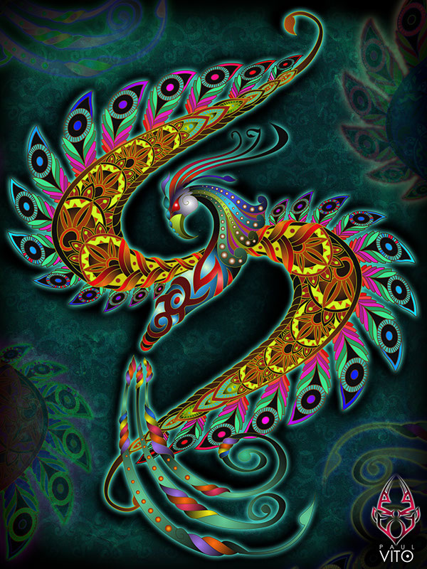 A paisley-inspired interpretation by Paul Vito