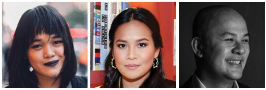 Xyza Cruz Bacani, Jam Acuzar, and Paul V. Rivera (Source: Asian Journal)