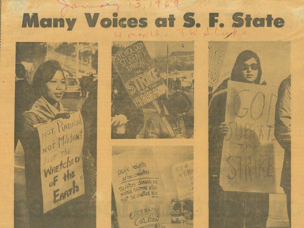 San Francisco Chronicle,  January 9, 1969, Courtesy of San Francisco Public Library
