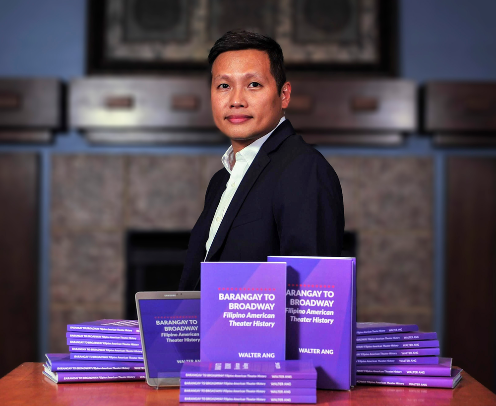 Walter Ang, with the new book, available in hardcover, paperback and ebook formats (Photo by Jason Estrada).