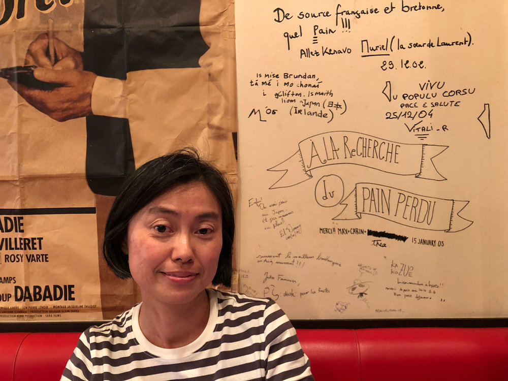 I met Nobuko at Le Petit Mec, arguably Kyoto's best French boulangerie. We were both lining up for bread and stayed on to have a long chat in French, it became our sort of meeting place on Friday afternoons when she's on her way home from a teaching class at the shrine nearby. (Photo by Criselda Yabes)