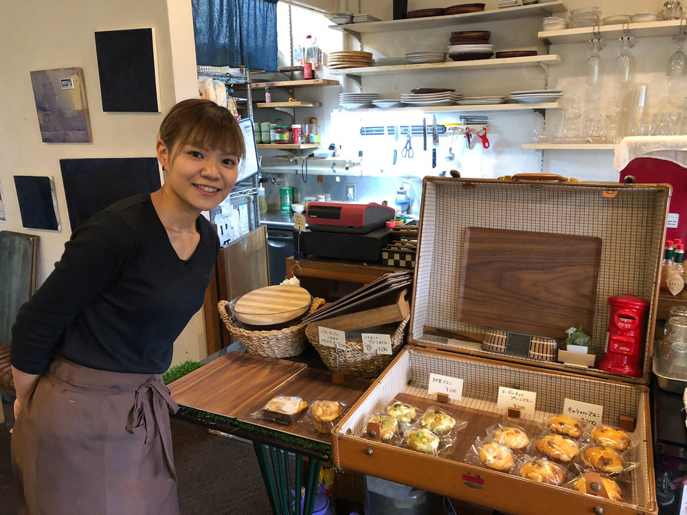Yuminaka makes her muffins at the Cafe Air, a homey place among the houses facing the river. It's where I go for breakfast or late afternoon tea. (Photo by Criselda Yabes)