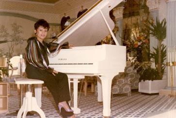 Ester Hana performed in Monte Carlo in 1985. (Photo courtesy of Ester Hana)