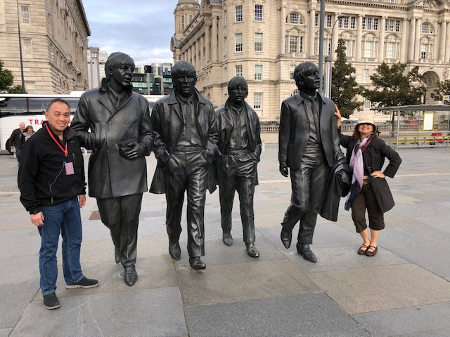 Fans get up close with the Fab Four on Pier Head (Photo courtesy of Cherie Querol Moreno).