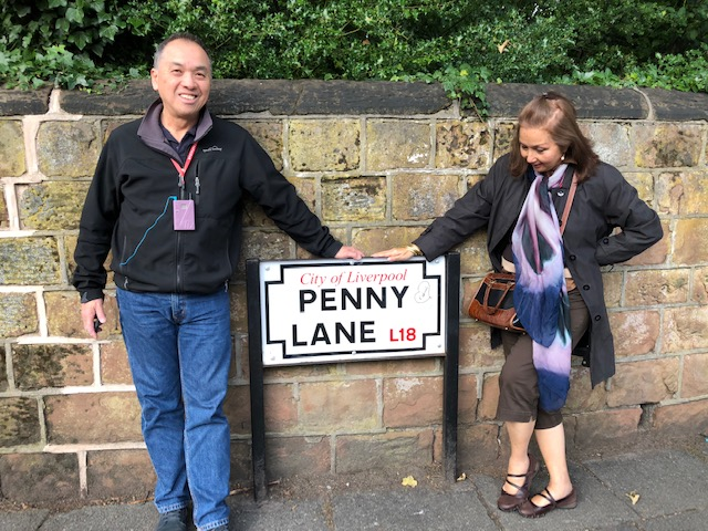 "The street inspired the song and sends tourists singing the famous refrain, ""Penny Lane is in my ears and in my eyes..."" (Photo courtesy of Cherie Querol Moreno)"