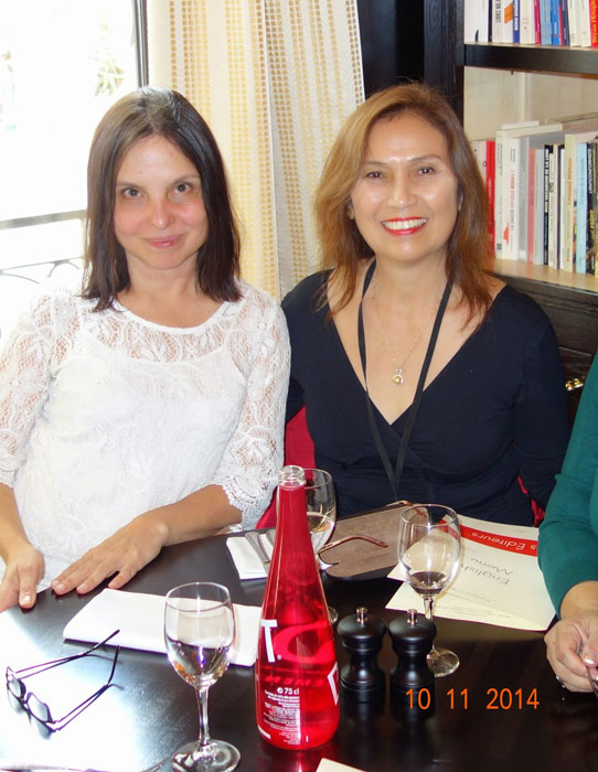Authors Reine Arcache Melvin and Cecilia Manguerra Brainard in Paris.
