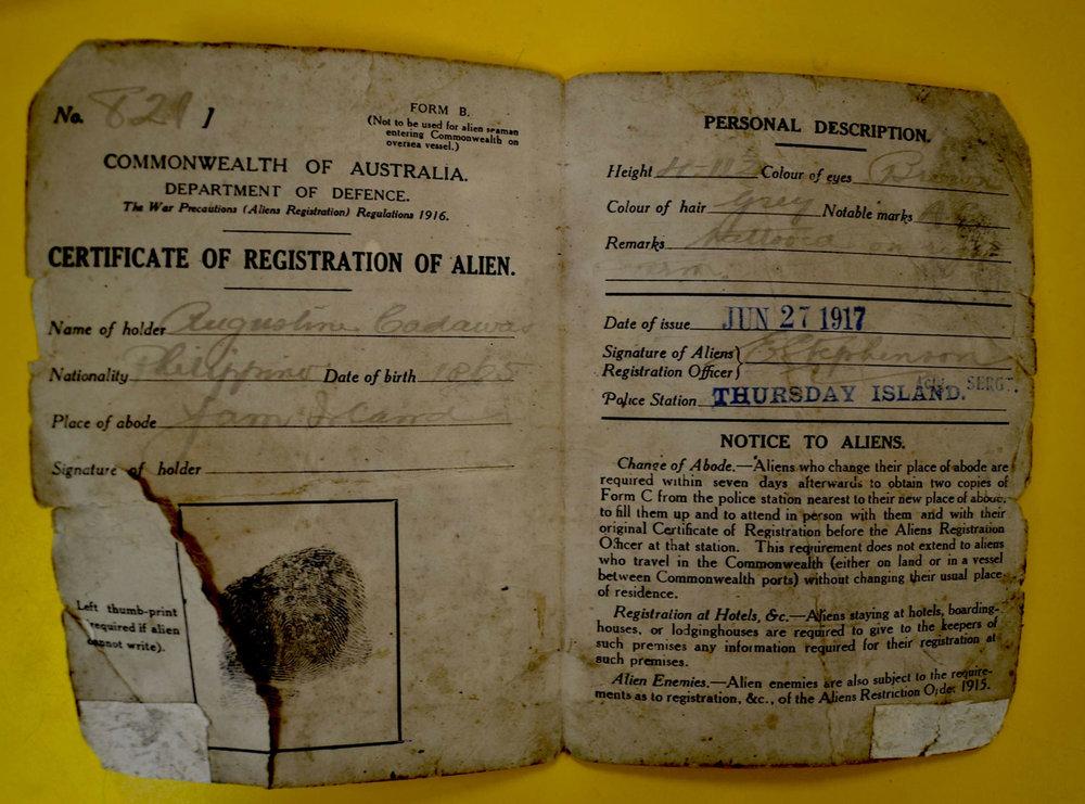 Cadawas' Alien Certificate