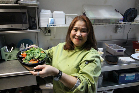 Chef Cecilia Icasas Fernandez advocates cheerful attitude when cooking. (Photo by Ivan Kevin Castro)