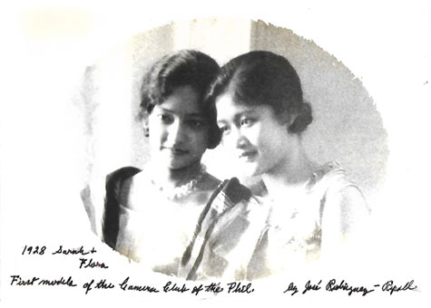 Sarah Tempongko (later de la Paz) and her cousin Flora Tempongko Ongpin (later Heras) were the first models of the venerable Camera Club of the Philippines.