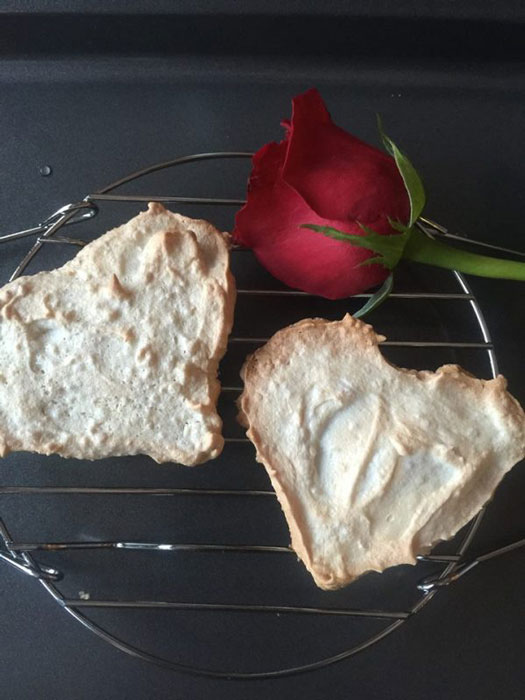 Heart-Shaped Meringue Cookies with Toffee (Photo by Elizabeth Ann Quirino)