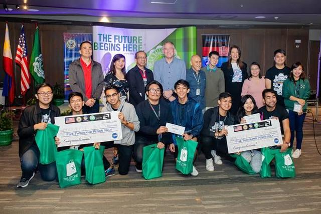 GLOBAL FINALIST. Team iNON (It's Now or Never) is behind the ISDApp. Photo courtesy of Michael Lance Domagas (Source: Rappler)