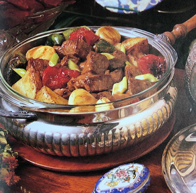 """Mechadong Tagalog borrows the name but not the procedure and ingredients of the European original. (Photo by """"Filipino Cuisine, A Centro Escolar University Centennial Collection"""". Courtesy of the Erlinda Tiongco Galleon archives)"""