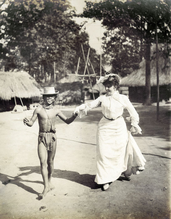 The photo that started it all: an Igorot with an American woman at the St. Louis World Fair in 1904.