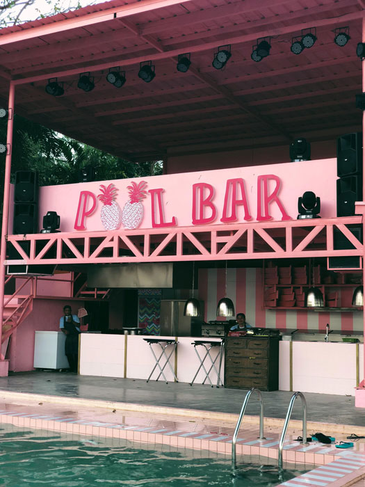 Closeup of the Pool Bar at Happy Beach (Source: Erielle Fornes)