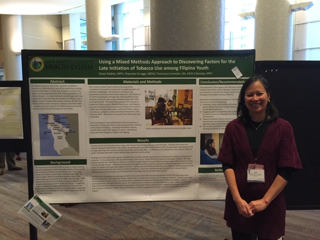 Edith Cabuslay presented a poster at the American Public Health Association on research conducted with Filipino youth. (Photo courtesy of Edith Cabuslay)