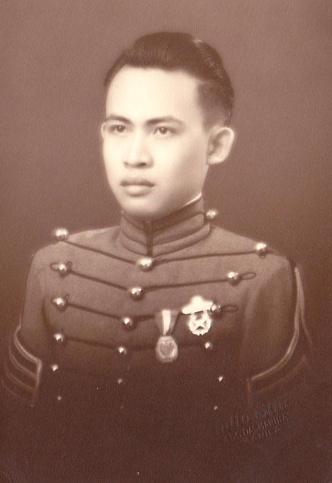 Tony Nieva as a cadet.