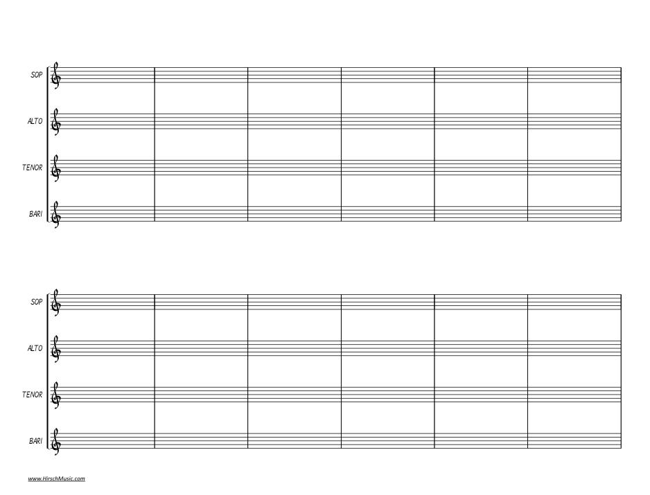 Manuscript paper — HirschMusic Publications