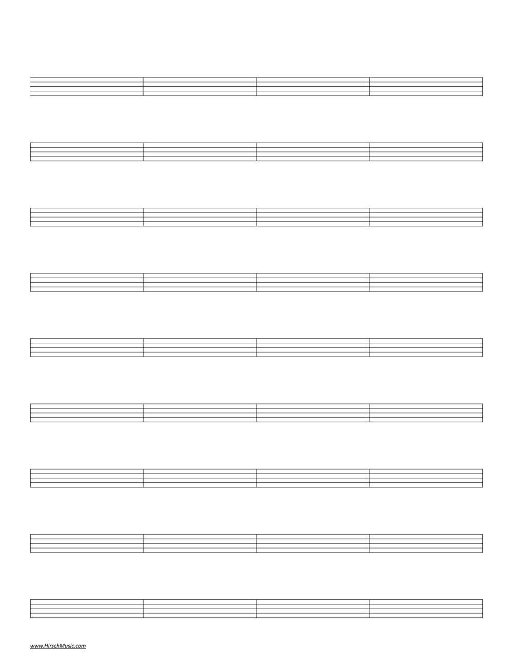 staff paper blank