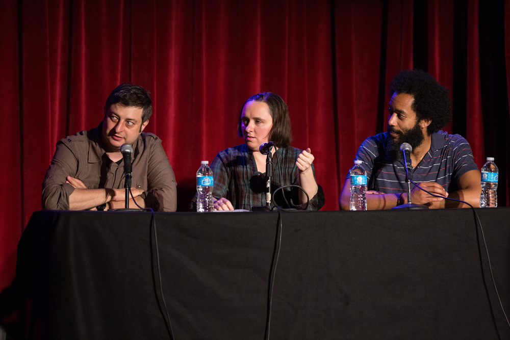 Eugene Mirman, Sarah Vowell, and Wyatt Cenac  Photo by  David Andrako