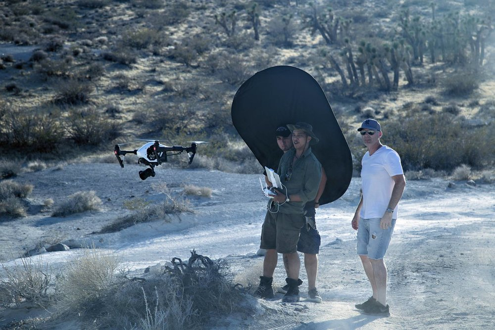 Flying a DJI Inspire for the Rhino Rack campaign - photo credit: Lorenzo Hodges