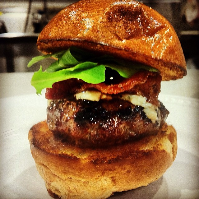 Mini Burger with Brie & Candied Bacon #tbt