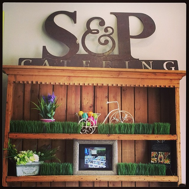Our set up at #sodapops #readyforspring