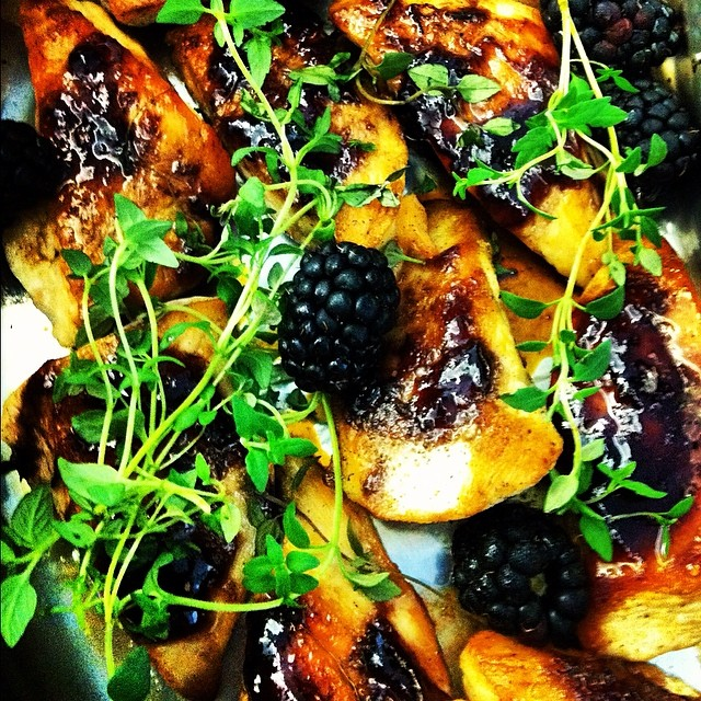 Blackberry Glazed Chicken with Goat Cheese & Thyme #TBT