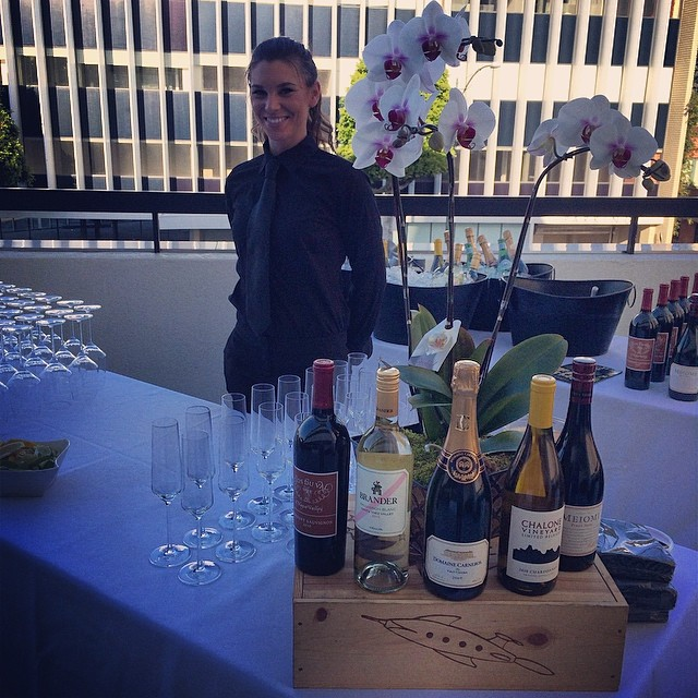 It's a beautiful day in Beverly Hills!  Getting the bar set up for Boston Private Bank Event!