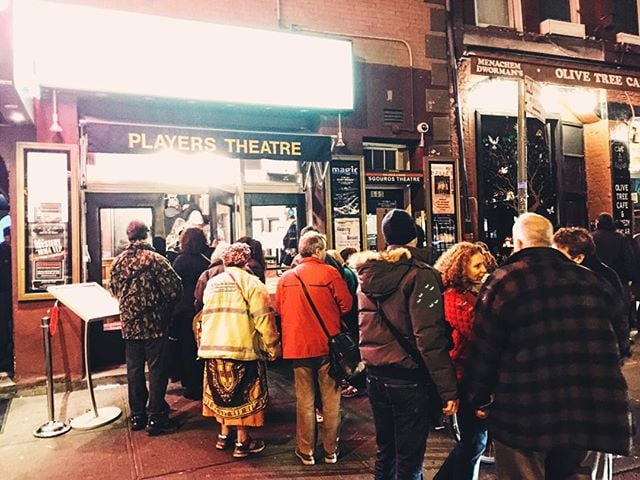 We love a good line! Thanks to all the patrons who are here for the reopening of #IrmaVepTP! The show starts now! #offBroadway #mystery #offBway #Downtown #nyc #NYCtheatre #GreenwichVillage #WestVillage #MysteryOnMacDougal #theatre #PennyDreadful #MrNye #MrSellers #Campy #Creepy #comedy #melodrama #farce #ridiculous #thtrprjct #TheTheatreProject #mummy #werewolf #edgar #enid #downton #mandacrest #IrmaVepTP