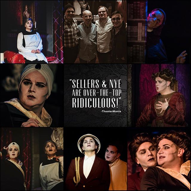 """Tonight is your final chance to see the show critics are calling """"A stand-out in the current Off-Broadway scene."""" Join us tonight for The Mystery of Irma Vep! #offBroadway #mystery #offBway #Downtown #nyc #NYCtheatre #GreenwichVillage #WestVillage #MysteryOnMacDougal #theatre #PennyDreadful #MrNye #MrSellers #Campy #Creepy #comedy #melodrama #farce #ridiculous #thtrprjct #TheTheatreProject #mummy #werewolf #edgar #enid #downton #mandacrest #IrmaVepTP"""