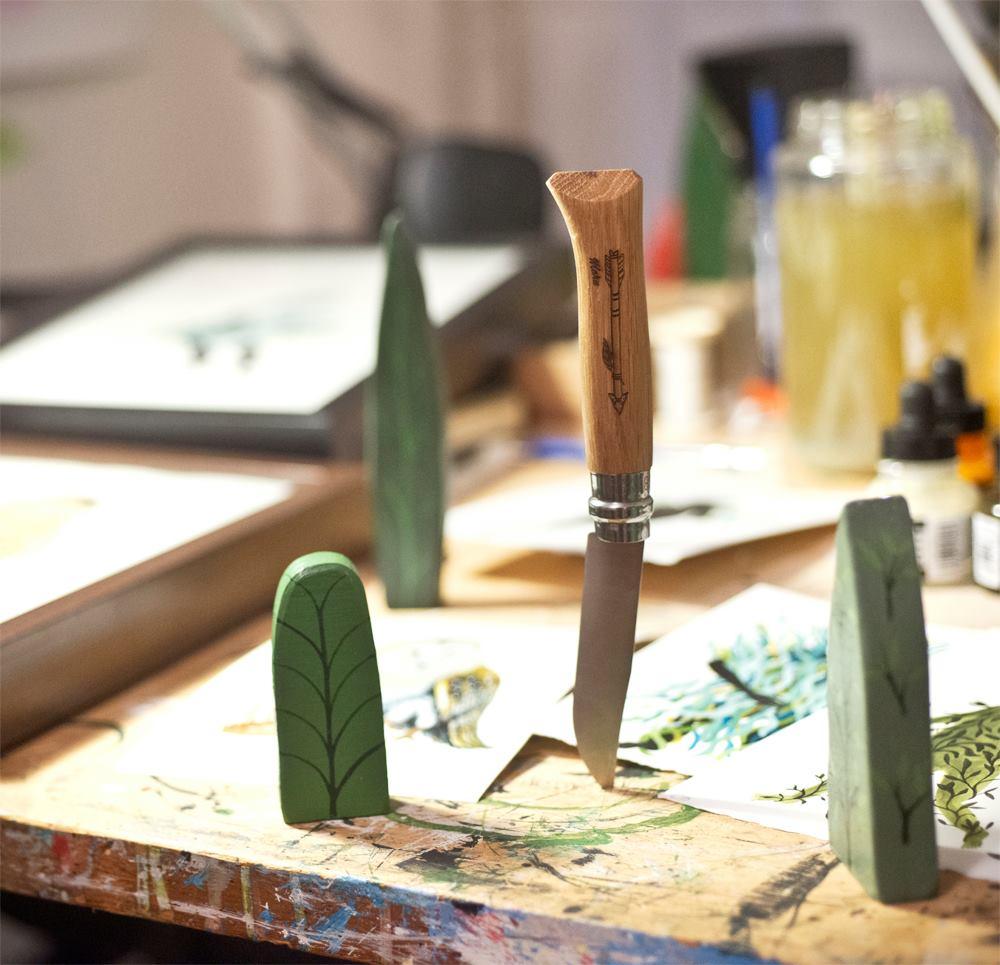 Maru x Drew Mosley x Opinel no. 8 knife