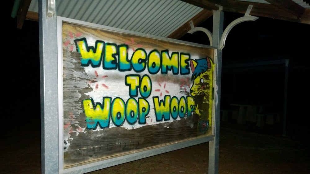 Rural QLD. Snide jokes from the local graffiti cats.