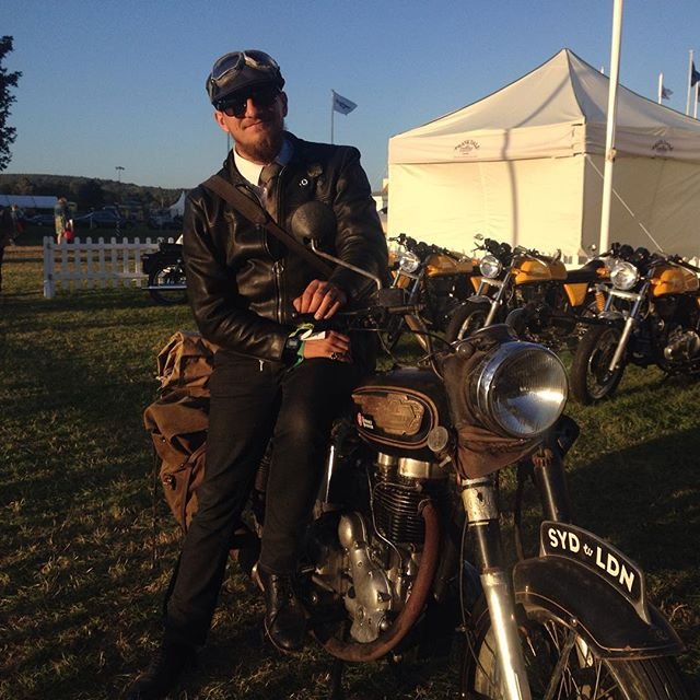 My bike and I at the Goodwood Festival