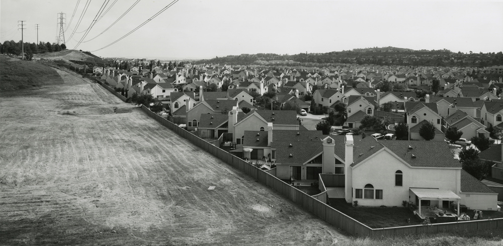Gene Kennedy, South from Santa Margarita Parkway, Mission Viejo, Orange County, CA 1991 gelatin silver print 11 x 20 inches