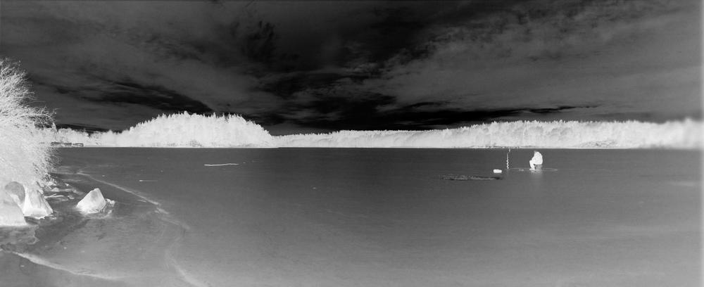 Tobias Hofsäss,Edsviken, 2012 Panoramic Negative, Aluminium Dibond, 120x49cm