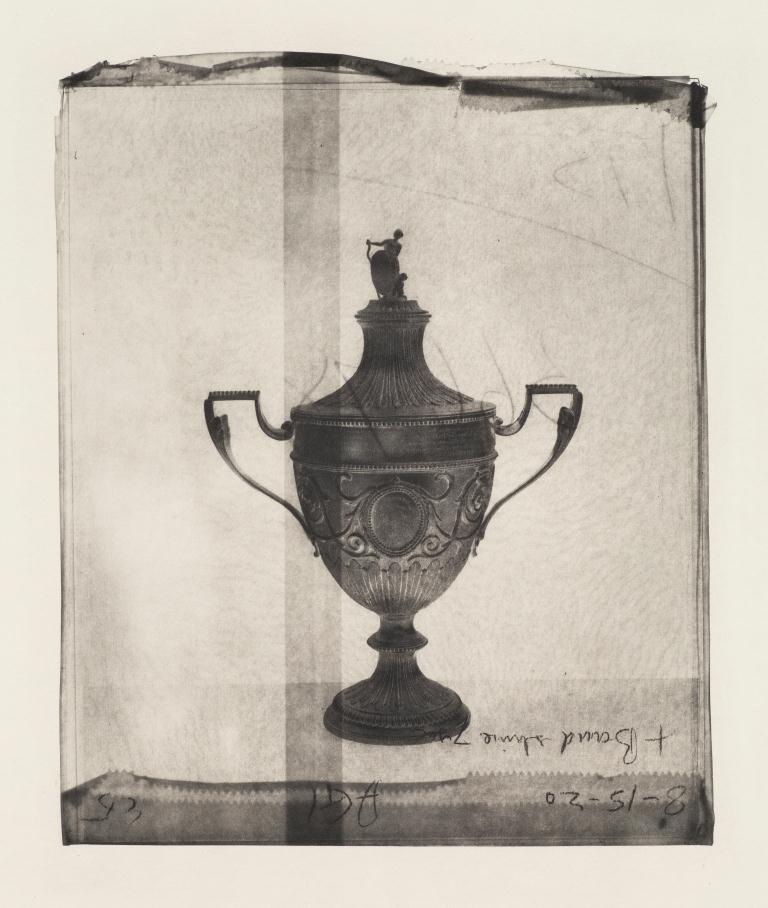 Cornelia Parker,  Silver Trophy (From Thirty Pieces of Silver) , 2015. Series of 21 polymer photogravure etchings on Fabriano Tiepolo Bianco 290 gsm paper. Edition of 20. Courtesy Cornelia Parker and Alan Cristea Gallery, London