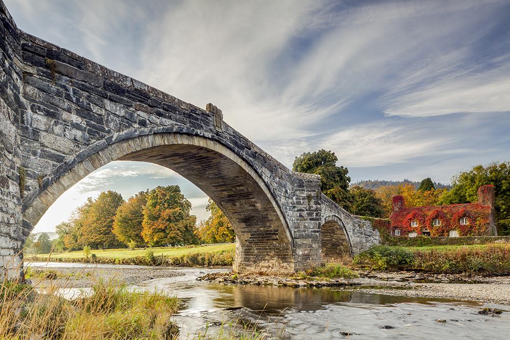 Julian Elliott - Pont Fawr & River Conwy, Llanrwst, North Wales