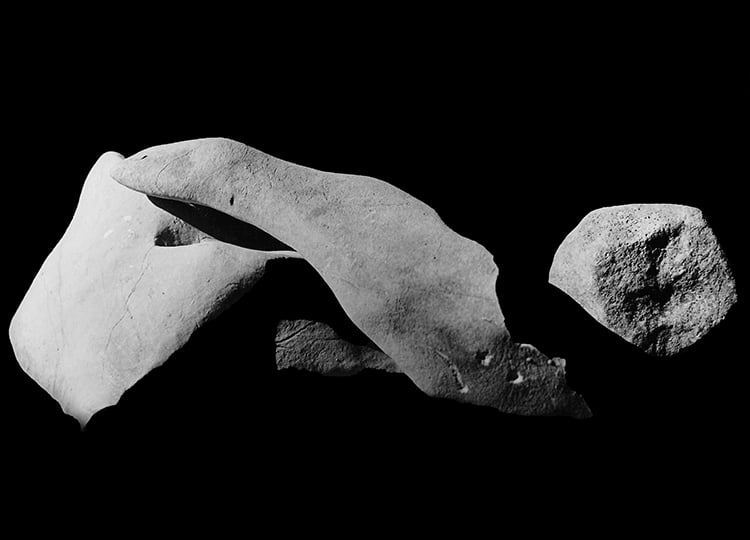 Raoul Ubac.Pierres Assemblées (Stones), 1933. Vintage gelatin silver print. Titled, dated and signed on verso. Image courtesy of Gallery 19/21, Guilford CT