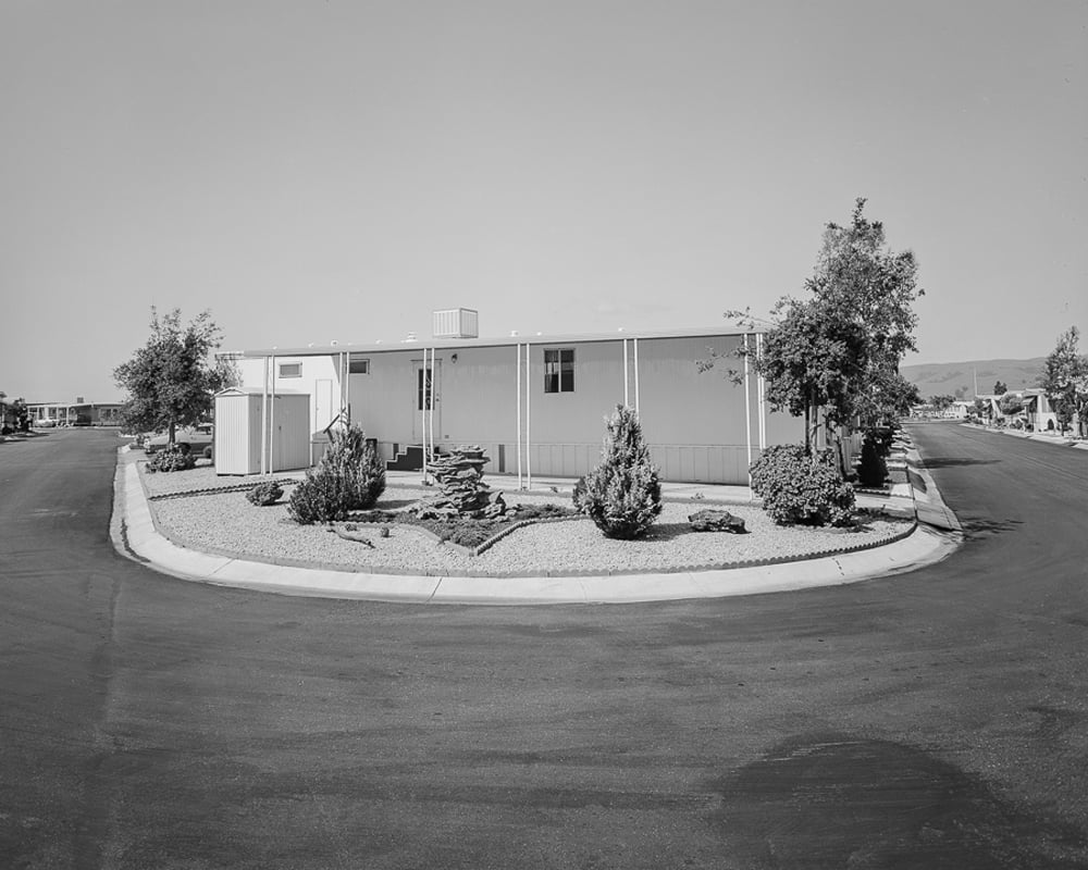 John Schott.Untitled, from special edition of the book Mobile Homes 1975-1976 (Nazraeli Library Series) Gelatin silver print contact print. Printed later. Image courtesy of Nazraeli Press