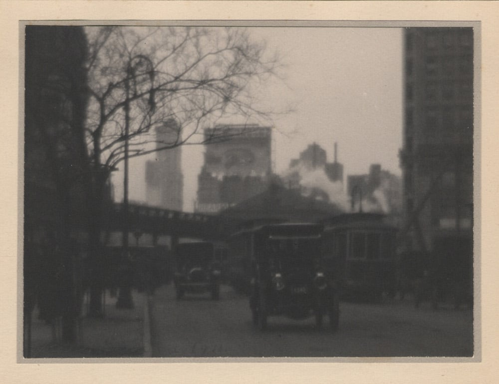 Karl Struss.Herald Square, New York, 1911. Platinum print, ca. 1911. Image courtesy of Lee Gallery, Winchester MA