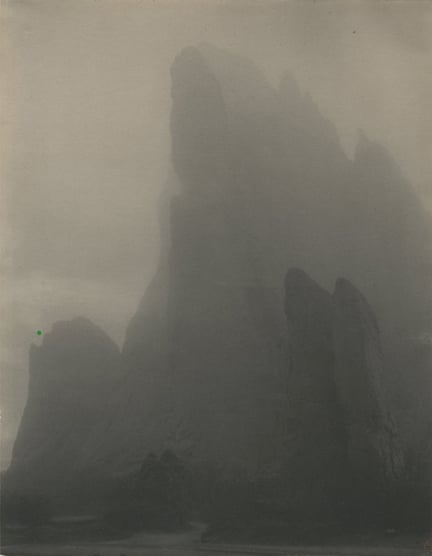Laura Gilpin.Ghost Rock, Garden of the Gods, Colorado, 1919. Platinum print, printed ca. 1919. Image courtesy of Howard Greenberg Gallery, New York NY