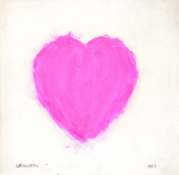 Valentine Painting (1967), Adrian Henri (Print produced in 2017. Edition of 80)
