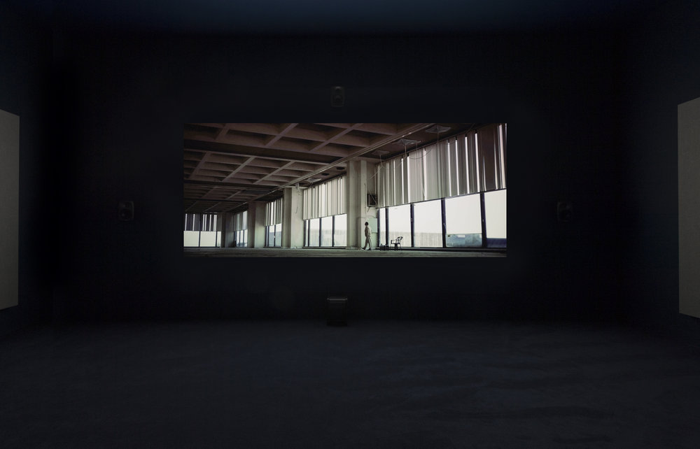 Naeem Mohaiemen, Tripoli Cancelled 2017, single-channel video, Turner Prize 2018 exhibition installation view, Tate Britain (26 September 2018 - 9 January 2019).
