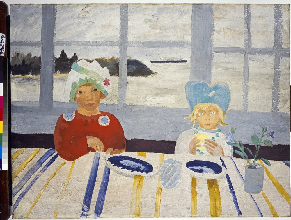 Winifred Nicholson Jake and Kate on the Isle of Wight, 1931 National Galleries of Scotland, Edinburgh, Presented by theTrustees of Winifred Nicholson's estate in accordance withher wishes 1985. © TRUSTEES OF WINIFRED NICHOLSON
