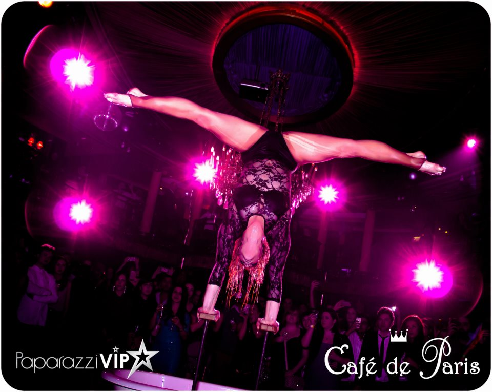 Performing at Cafe de Paris