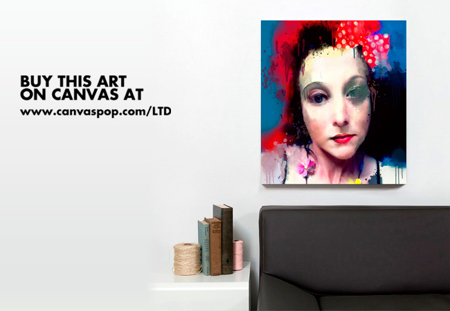 My image 'The Polka dot Bow' is available to buy at CanvasPop for one week only !