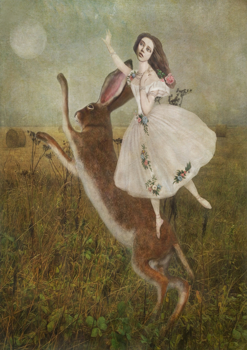Hare in field with girl low res.jpg