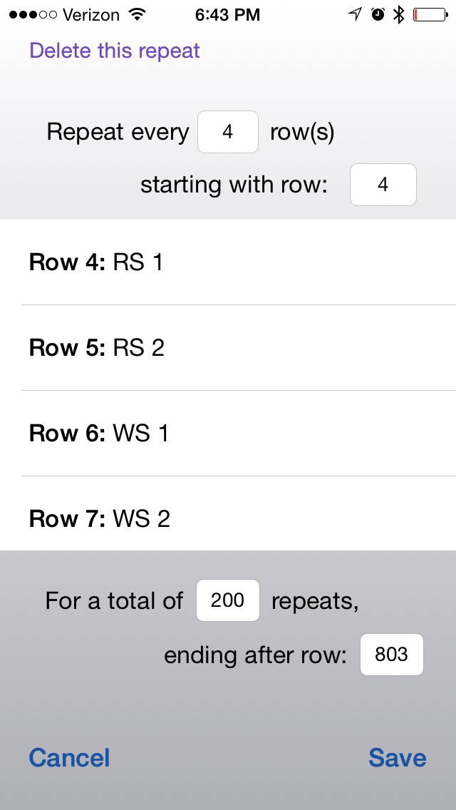I don't think it's really going to be 803 rows!  But I'll just stop when I'm done. (And, yeah, I need to plug in!)